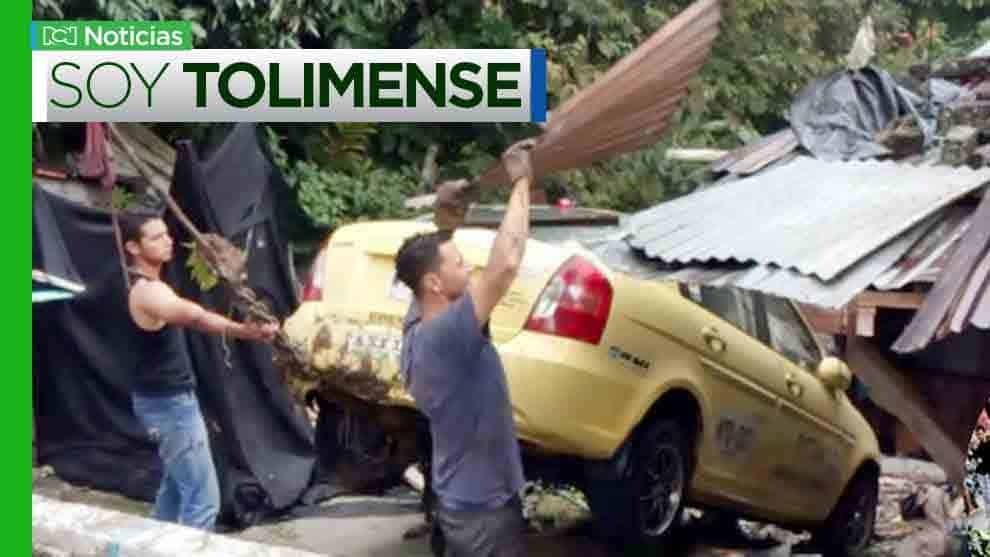 accidente taxi en Tolima