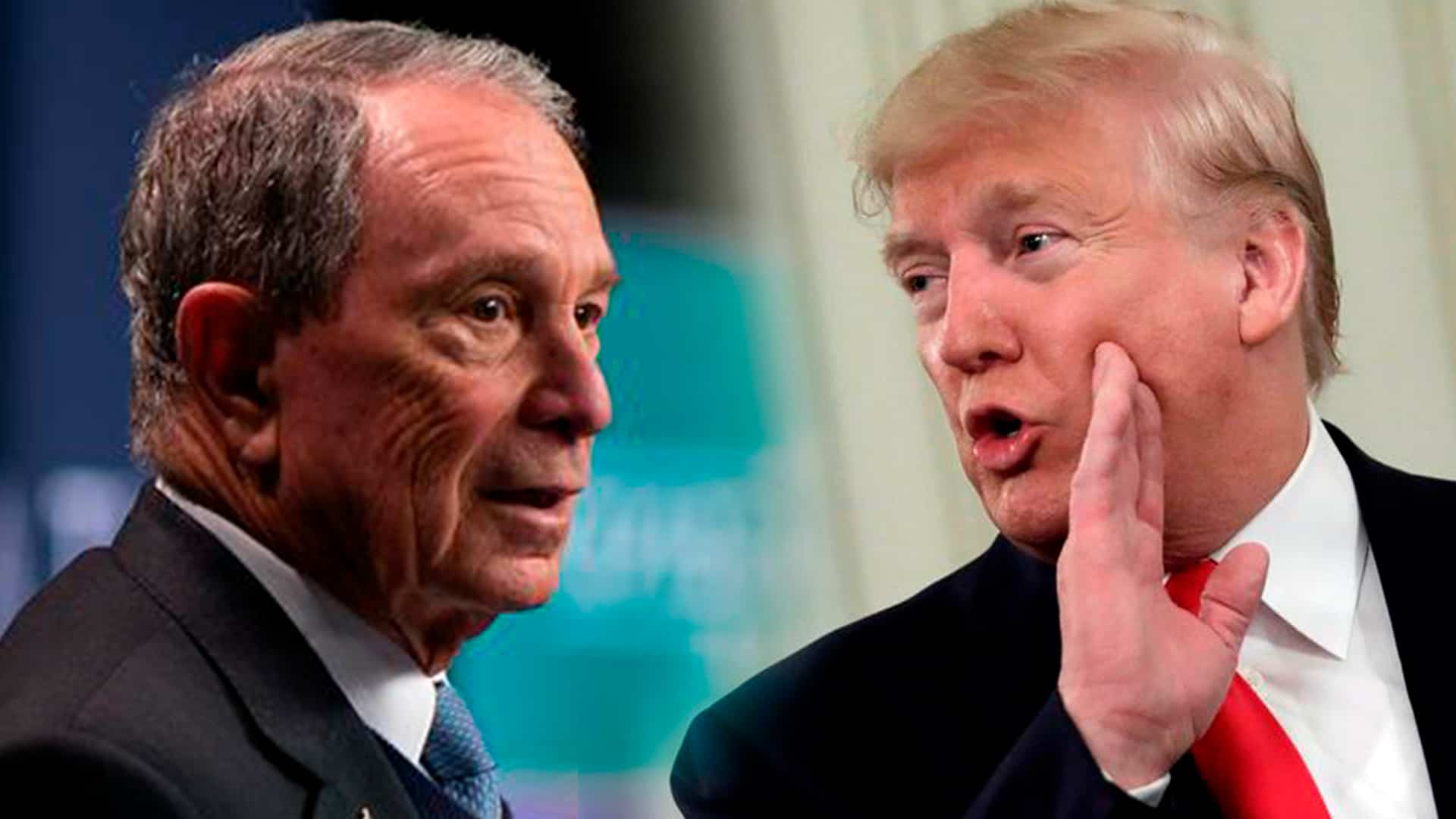 Michael Bloomberg y Donald Trump