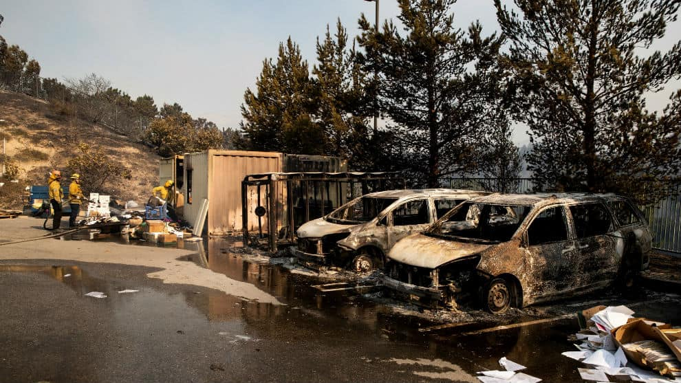 incendio en california estados unidos