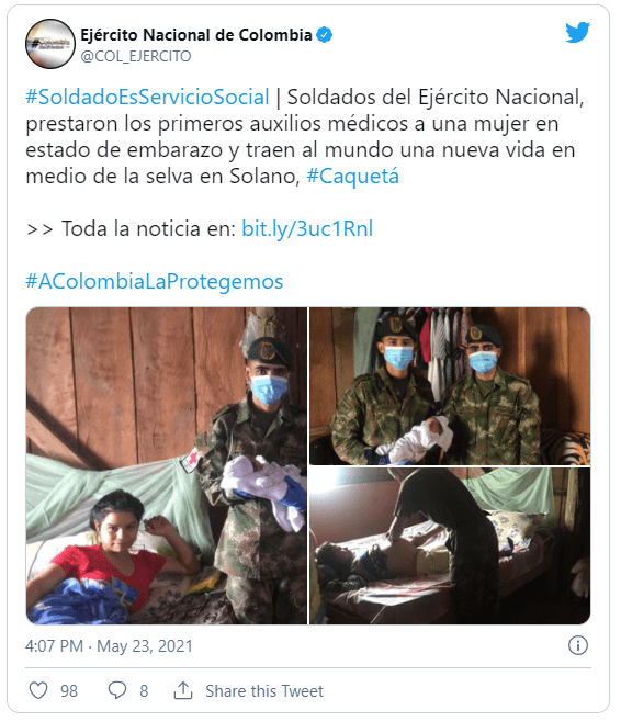 Foto: @COL_EJERCITO (Twitter)