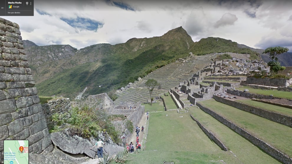 Machu Picchu visto a través de Google Street View