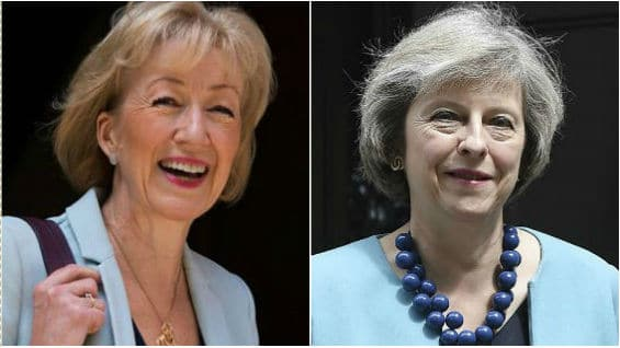 Andrea Leadsom (izq)  Theresa May (der). Fotos EFE